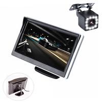 """5"""" TFT LCD HD Digital Monitor &Car Rear View Backup Reverse Camera Night Vision"""
