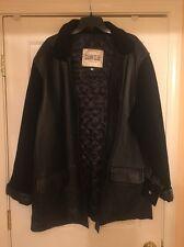 New Men's Italian New Style Genuine Leather/Materiel Black Jacket Sz XXXL