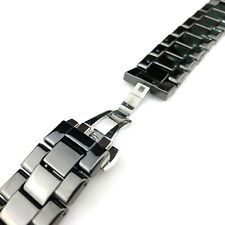 Ceramic Black Strap/Band/Bracelet with clasp fits Emporio Armani AR1400 watch