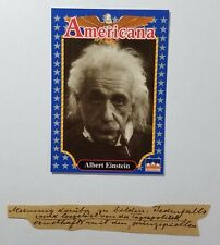 "14 Authentic Handwritten Words by ALBERT EINSTEIN - ""Gallery of History"" COA"