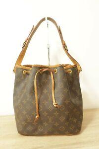 Authentic Louis Vuitton Monogram Petit Noe Brown Shoulder bag  #8692