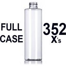 BULK 8 oz PET Clear Plastic Bottles FULL CASE 352 qty  Cylinder Empty Refillable