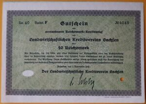 "20 Reichsmark 1932 Loan Bond - Series: 4049 -  ""Combined shipping"""