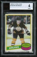 1980 81 OPC O Pee Chee #140 Raymond Bourque Rookie RC Boston Bruins vg-ex Ray