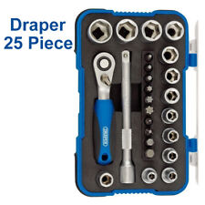 "Draper 25 Piece  1/4"" Sq. Dr. Metric Socket Set New"