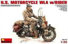 Miniart 1/35 U.S. Motorcycle WLA w/Rider #35172 *sEALED*new*