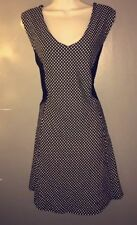 NWT Charlotte Russe Black White Polka Dot Fit and Flare Dress CUTE! Sz XLarge