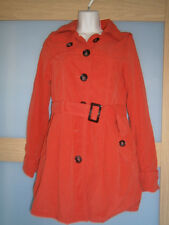H&M womens spring bright red coat size 8