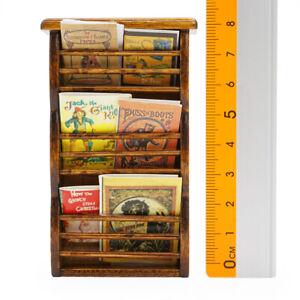 1:12 Miniatur Möbel Magazinständer mit 3 Fächern Holz Für Möbel Puppenhaus