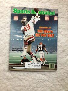 Sports Illustrated Earl Cooper San Francisco 49ers Super Bowl XVI Champs 1982