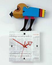 "FRANK SLABBINCK - ART Skulptur ""Blue Lady Clock"" - Serie Colors of Life - H 35cm"