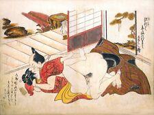 Repro Japanese Woodblock 'Shunga Syle' Print - #014