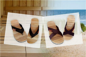 CINNEA® Sauna Bade-Latschen Wellness Zimtholz Sandalen Damen Herren Gr. 36 - 47