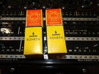 2 Röhren Siemens EB41 Tube Valve Rimlock NOS auf Funke W19 geprüft BL1690