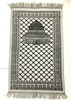 New Islamic Prayer Rug Muslim Mat Sajadah Carpet Velvet Dome of The Rock Mosque