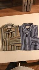 Lot Of 2 Alexander Julian Private Reserve Mens Striped Long Sleeve Size XL