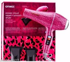 NIB Amika Power Cloud Repair + Smooth Hair Dryer in Pink Cheetah - SOLD OUT!
