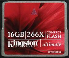 KINGSTON 16 GB ULTIMATE 266X COMPACT FLASH CF MEMORY CARD CF/16GB-U2