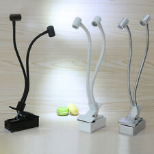 6W LED Picture Table Reading Clip Clamp Light Battery-Powered Lamp on/off Button