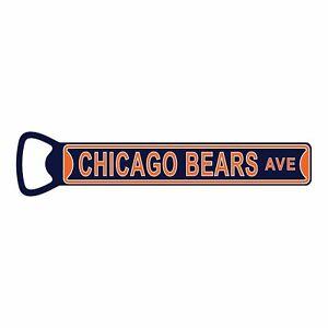 """NFL Bottle Opener Chicago Bears Magnetic Size: 7"""" x 1"""""""