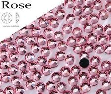5mm Excellent Quality Hot Fix/Iron On Rose Pink Flatback Round HOTFIX SS20