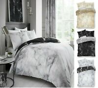 MARBLE Design Luxury Printed Reversable Duvet Quilt Cover+PillowCase Bedding Set
