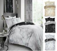 MARBLE Design Luxury Printed Reversable Duvet Quilt Cover+PillowCase Bedding Set