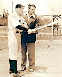 "William Bendix and Babe Ruth NY Yankees  8x10 Photo ""Babe Ruth Story"""