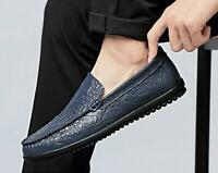 Men's Dress Formal Shoes Hollow out Breathable Slip on Loafers Pumps Flats Soft