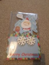 WOODEN MERRY CHRISTMAS ADVENT CALENDER NEW IN BOX BOYS GIRLS FUN XMAS