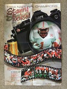 1995 Nebraska Cornhusker Football Schedule Poster - Phillips,Frazier, Berringer