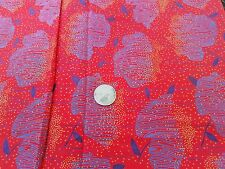 COTTON  FABRIC -AMERICAN CLASSID LINE PAULA FLUDER - ABSTRACT APPLES ON RED 1YD