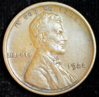 1920 P Lincoln Wheat Cent, Penny, Almost Uncirculated Cond., Free Shipping C4294