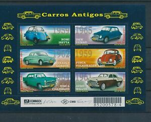 LO42336 Brazil old-timers cars good sheet MNH
