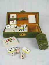 Collectable American Indian Pattern Cheif DOMINO Game Dice Cup Poker Cards Set