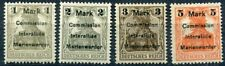 MARIENWERDER 1920 Surcharges on Germania types of Germany,  LHM / *