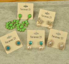 Forever 21 crystal flower stud drop cute jewelry earrings I LOT of 5