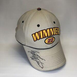 Scott Wimmer #22 CAT - Racing Champions Hat Nascar - signed autographed