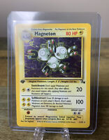 Magneton 1st Edition Holo Fossil Set - WOTC Rare Pokemon Card 11/62