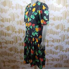 VINTAGE DARA JEFFRIES WOMEN'S 12-14  FLORAL DRESS ROMPER 80'S 90'S BUTTON FRONT