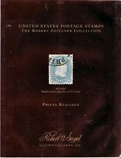ROBERT ZOELLNER COLLECTION US POSTAGE STAMPS PRICES REALIZED - SIEGEL AUCTIONS