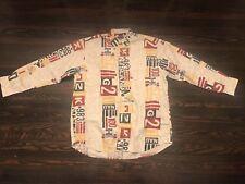 Vintage Nautica Men's Size XL Multi Color Long Sleeve Button Front Shirt 90S