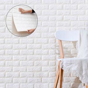 10pcs 3D Tile Brick Wall Sticker 60*30 cm Self-adhesive Wallpaper Foam Panel
