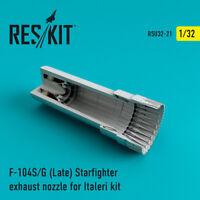 F-104 Starfighter (S/G Late) exhaust nozzle for Italeri 1/32 ResKit RSU32-0021