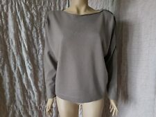 Fabiana Filippi zipped arm taupe wool blend dolman sweater pullover size 12 UK/M