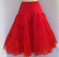 "RED PETTICOAT,SWING,ROCKABILLY,40'S,50'S,60'S,VINTAGE STYLE,26"",SIZE 14-18,NWOT"