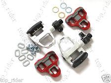 Wellgo QRD-R096B Road Bike Quick Release Aluminum Clipless Pedals Silver