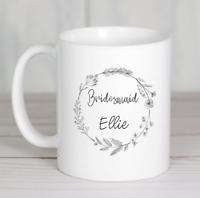 Bridesmaid gift mug personalised ceramic or coaster ideal gift wedding