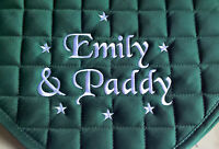 Personalised Embroidered Saddle Cloth with small stars,3 sizes,10 colours,numnah