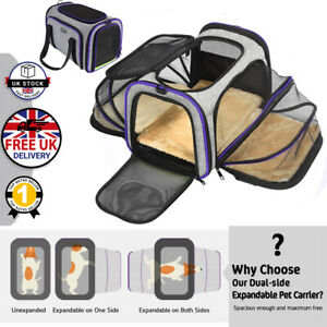 Pet Dog Cat Rabbit Portable Travel Carrier Tote Cage Bag Crate Kennel Box Holder